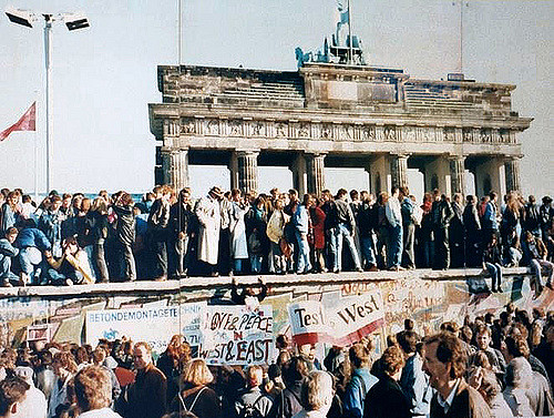 The fall of the Berlin Wall - a picture is worth a thousand words. Credit: Daniel Antal