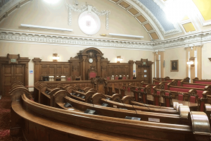 Local authority council chamber