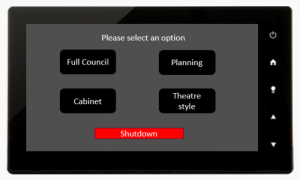 AV control panel