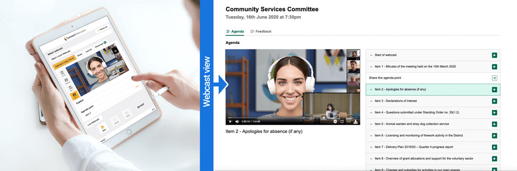 Connect Webcaster integration for easy webcast management