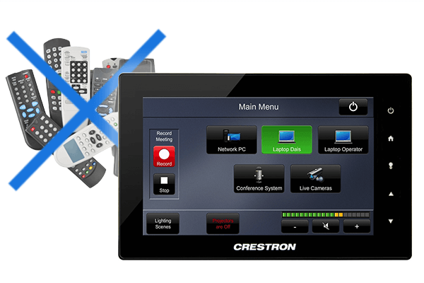 Crestron replace all remote controls to manage devices